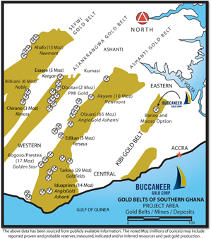 Gold Belt Map